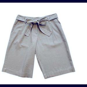 Pendleton Linen Blend Long Bermuda Shorts Sz 6 EUC